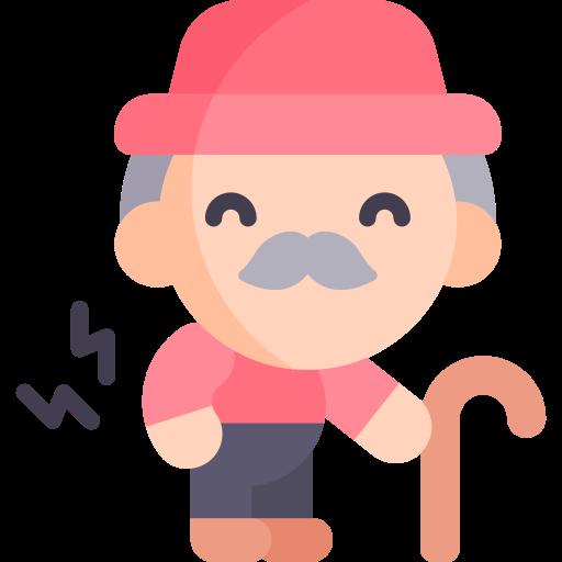 Ein Senior mit schlechter Körperhaltung