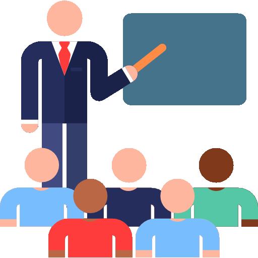 Ein Lehrer unterrichtet mehrere Schüler